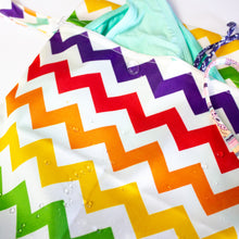 Load image into Gallery viewer, Rainbow Water-Resistant Bikini Bag (& 2 FREE Scrunchies!)
