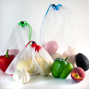 Reusable Mesh Produce Bags | Set of 15