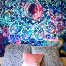 Load image into Gallery viewer, Cosmos Mandala Tapestry