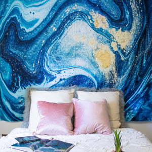 Turquoise Geode Tapestry