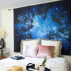 Starry Forest Tapestry