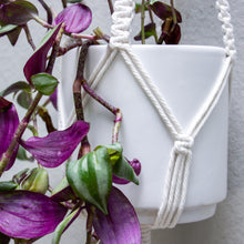 Load image into Gallery viewer, White Celestial Macrame Plant Hanger