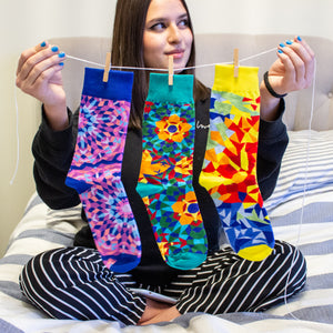 Kaleidoscope Socks (3 Colors)