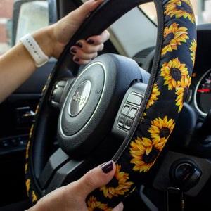 Steering Wheel Cover & Mask Pouch Set | 6 Designs