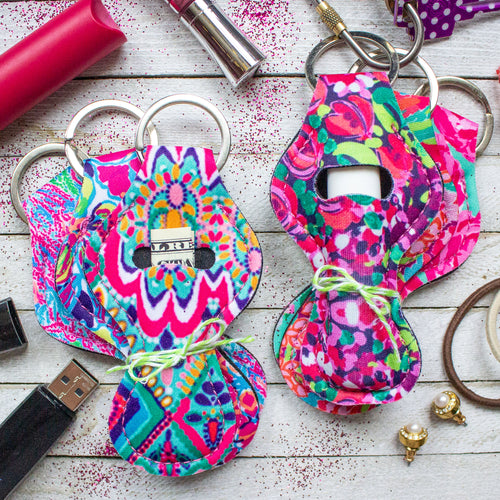 Patterned Chapstick/Cash Keychains (Set of 3)