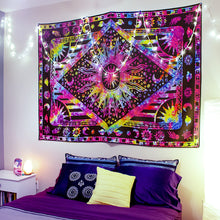 "Load image into Gallery viewer, ""Out-of-this-World"" Rainbow Tapestry"