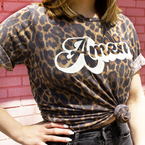 """Amen"" Leopard Top"