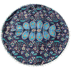 Cerulean Floor Cushion Cover
