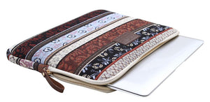 Chocolate Boho Horizontal Laptop Sleeve