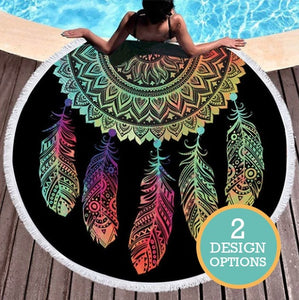 Dreamcatcher Roundie Beach Towel