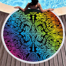 Load image into Gallery viewer, Emergence Roundie Beach Towel