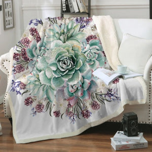 (For The Love Of) Succulents Fleece Blanket