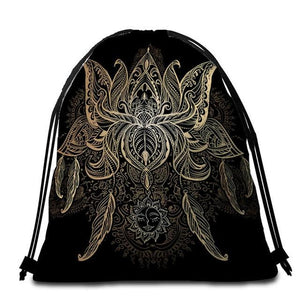 Glam Lotus Tote Bag