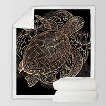 Load image into Gallery viewer, Glam Turtle Fleece Blanket