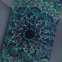 Load image into Gallery viewer, Glow-in-the-Dark Mandala (iPhone) Case