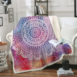 Gypsy Mandala Fleece Blanket
