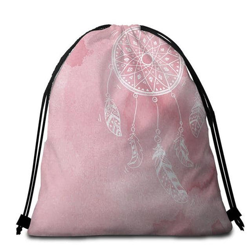 Rose Watercolor Dreamcatcher Tote Bag