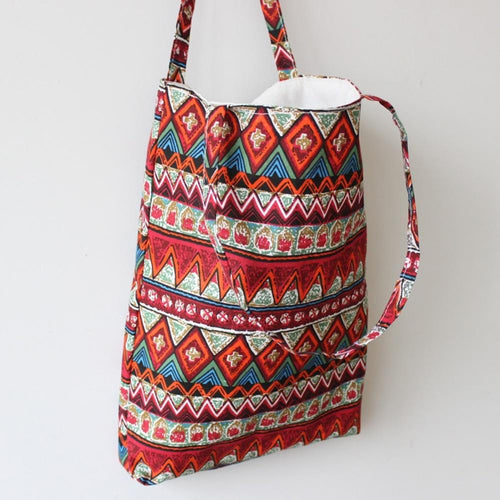 Ruby Aztec Small Reusable Tote