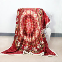Load image into Gallery viewer, Ruby Elephant Fleece Blanket