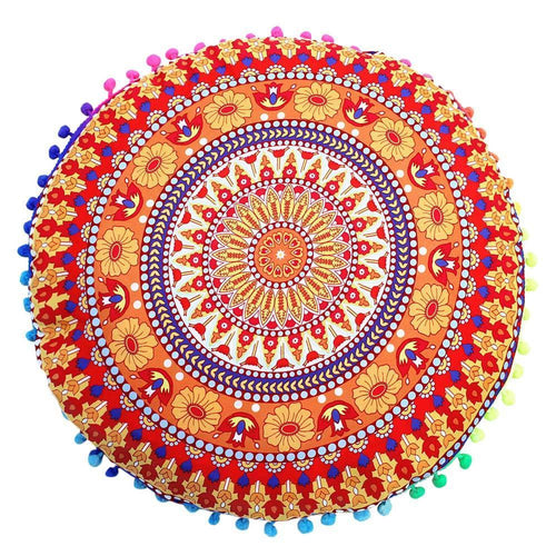 Summer Floor Cushion Cover