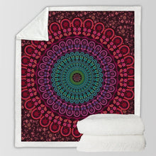Load image into Gallery viewer, The Staple (Burgundy) Fleece Blanket