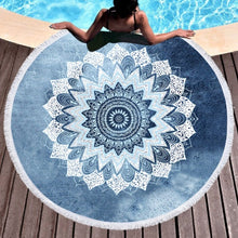 Load image into Gallery viewer, Tranquility Roundie Beach Towel