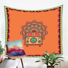 Load image into Gallery viewer, Large Vagabond Hippie Van Tapestry