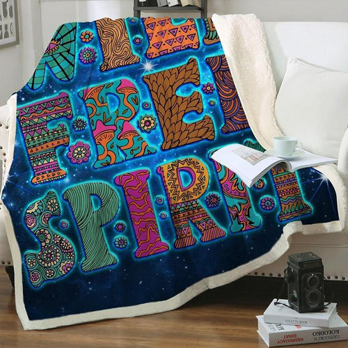 Wild + Free Spirit (Cosmos) Fleece Blanket