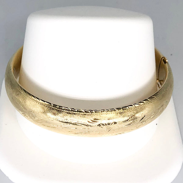 Vintage 14K Yellow Gold Bangle Bracelet CB0014