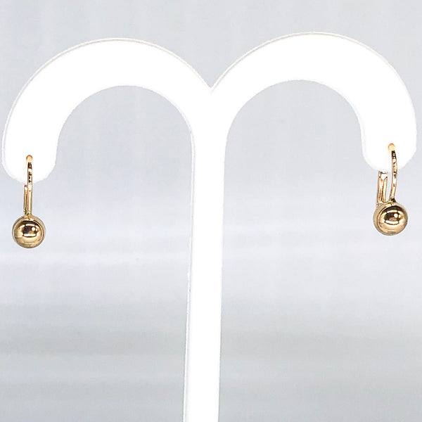 18K Yellow Gold Button Earrings