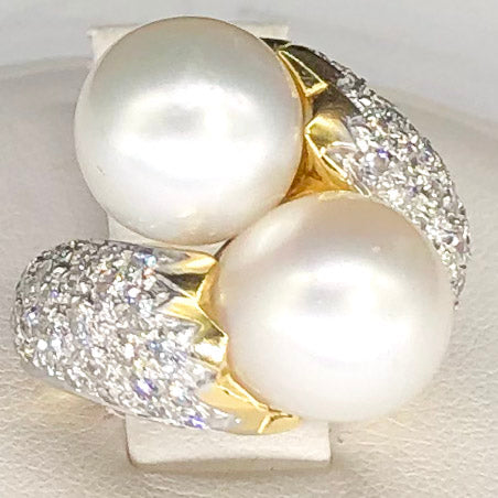 Beautiful 18K Pearl Diamond Ring CR0039