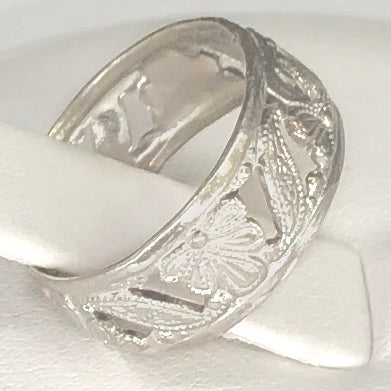 Sterling Silver Decorated Band CR0055