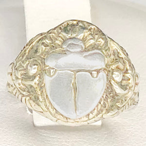 Sterling Silver Scarab Ring CR0056