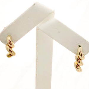 14K Yellow Gold Link Dangles on Post, 14K YG Backs - CE0003