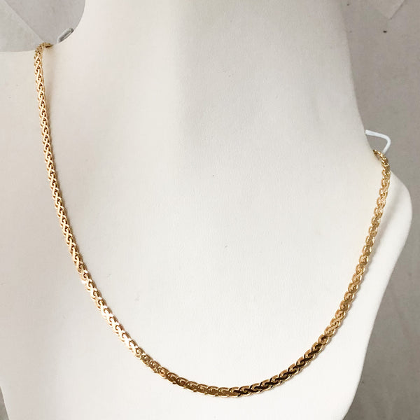 "14K Yellow Gold Fancy Link 20"" Chain  SI0182"