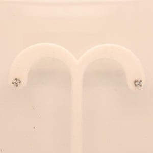 14K White Gold .31ct Diamond Stud Screwback Earrings  SI0193