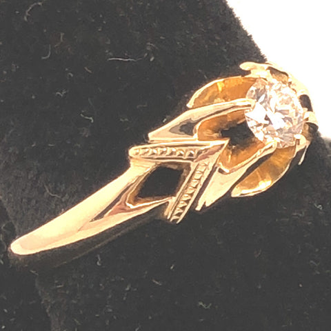 14K Rosey Gold Belcher Style Diamond Ring  CR0212