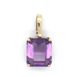 14K Yellow Gold Large Amethyst Enhancer Pendant  CPEND0027