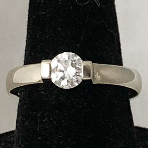 Designer Gelin Abaci 14K White Gold Tension Set Diamond Ring, Stackable  SI0179
