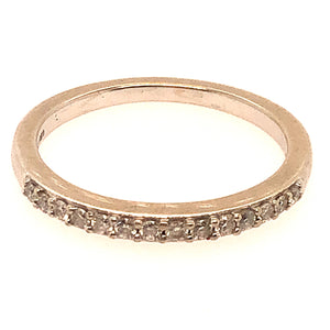 14K White Gold Diamond Band  CR0211