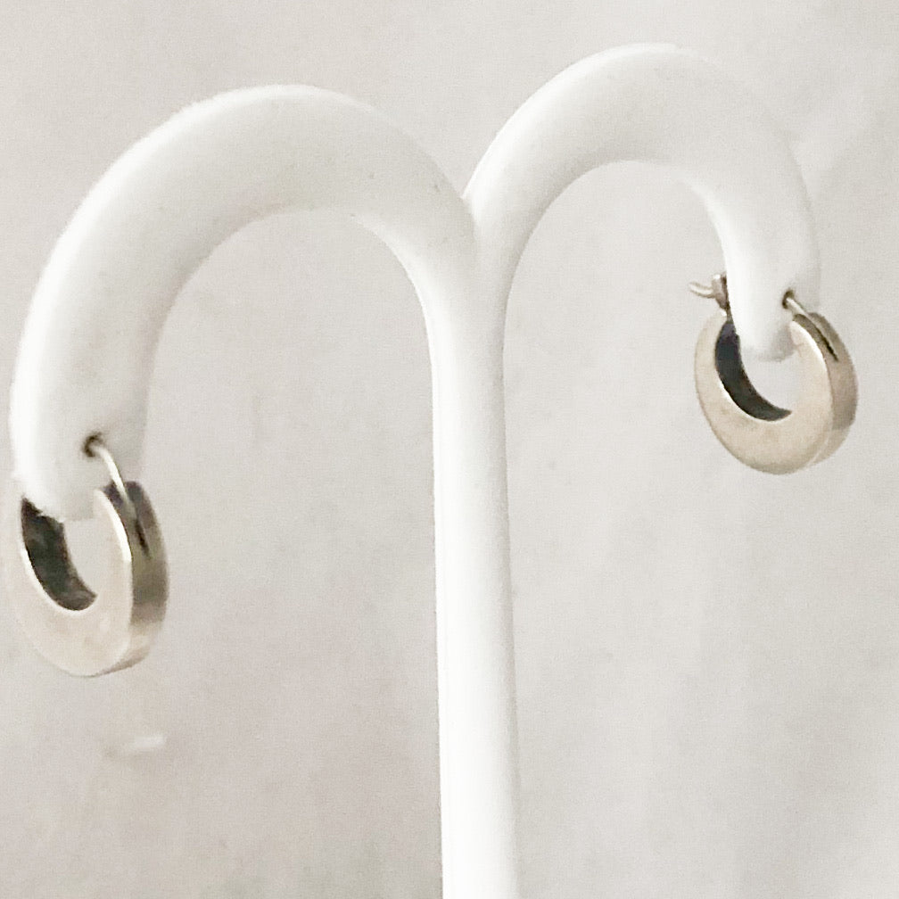 SS Thick Hoop Earrings  SI0192