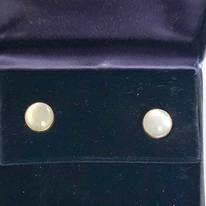 Tiffany 14K Yellow Gold Moonstone Earrings CE0022