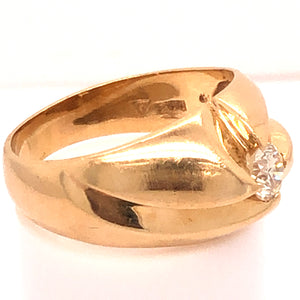 14K Yellow Gold Twisted Belcher Ring  CR0213