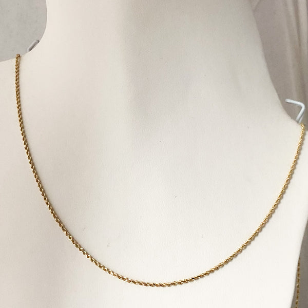 "14K Yellow Gold Rope Chain 24""  SI1083"