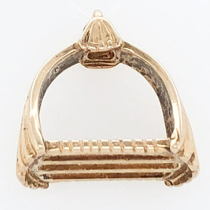 14K Yellow Gold White Horse Collection 18th Century Portuguese Stirrup Charm   WHC0001