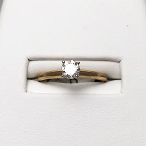 14K Yellow Gold Diamond Solitaire Ring @ 40 pts CR0081