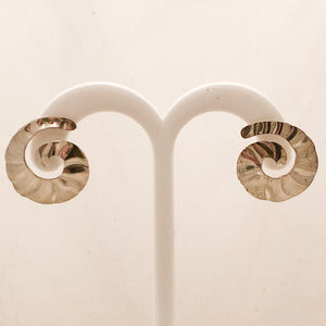 Stering Silver Swirl Ridge Earrings   CE0082