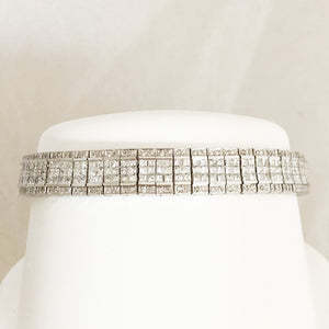 14K White Gold Diamond Bracelet   CB0046