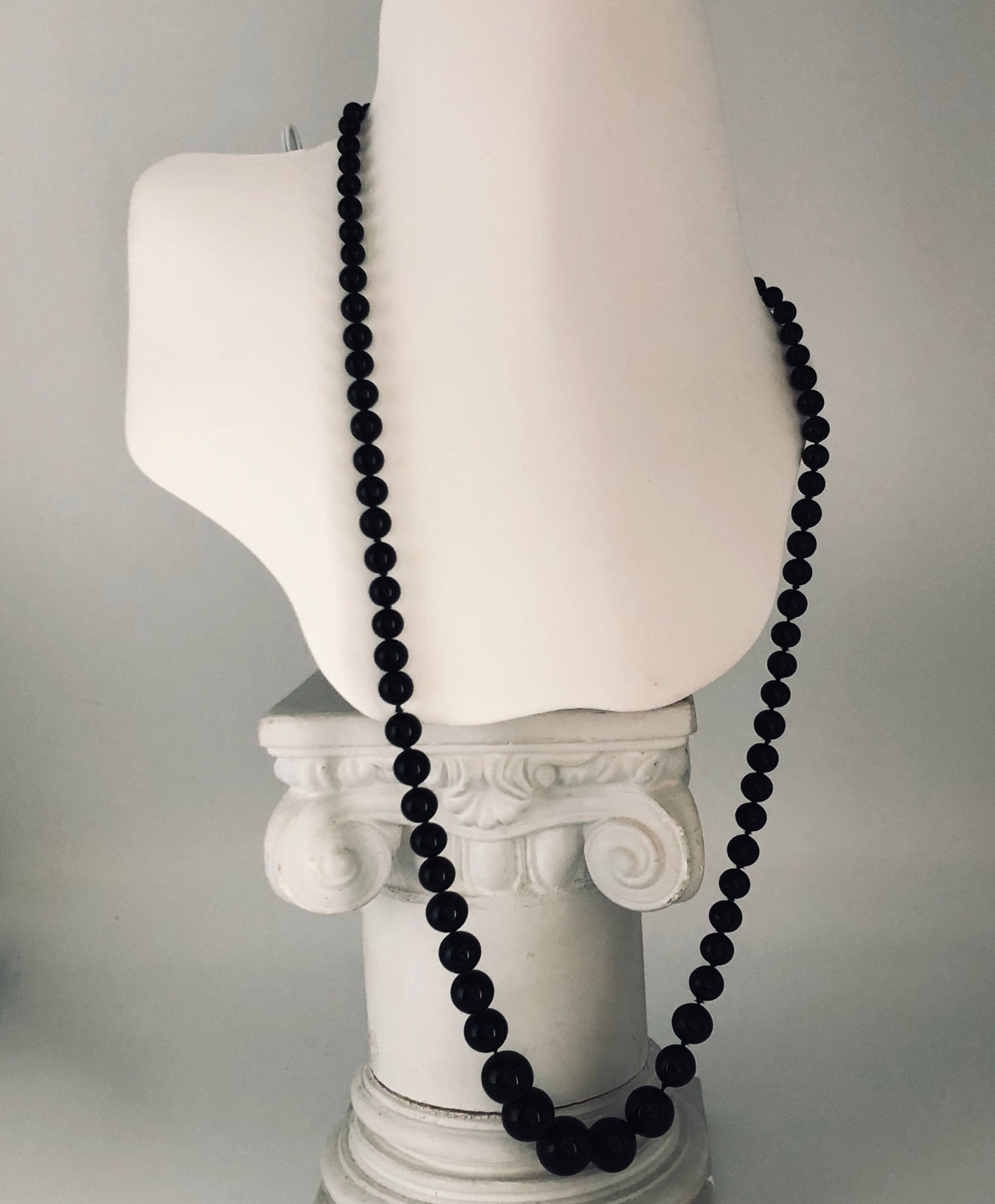"Onyx 24"" Necklace, Purchased at Tiffany's CN0012"