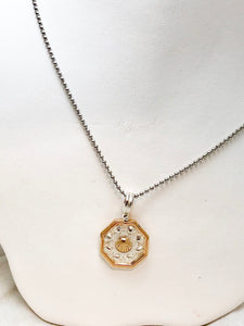 The Touch SS/14K YG Sailor's Valentine SS Chain Necklace SI0058